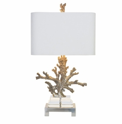 Silver Coral Table Lamp <Font color=a8bb35> NEW</font>
