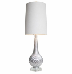 Silver Parker Table Lamp  <Font color=a8bb35> NEW</font>
