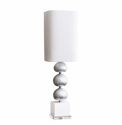 Silver Sea Urchin Buffet Lamp <Font color=a8bb35> NEW</font>