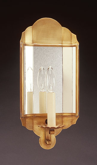 Small Mirrored Wall Sconce