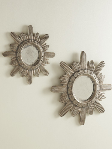 Spanish Starburst Mirror Silver Leaf  in Two sizes
