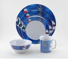 Spinnaker Melamine Dinnerware Collection with Platter