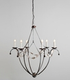 Spring Island Small White Basket Chandelier with Shell Swag Pendant Light