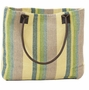 Spring Stripe Woven Cotton Tote Bag