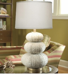 Stacked White Sea Urchin Lamp<font color=a8bb35> NEW</font>