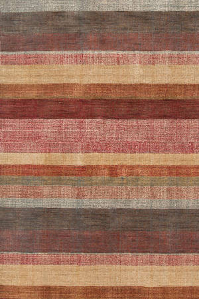 Dash And Albert Stoneover Stripe Wool Woven Rug For Sale