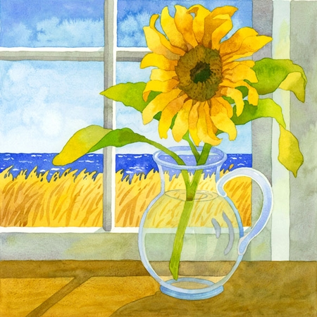 Sunflower in the Window Giclee