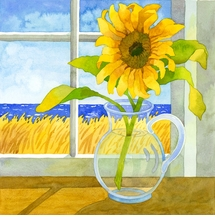 Sunflower in the Window