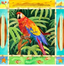 Surf Parrot Giclee