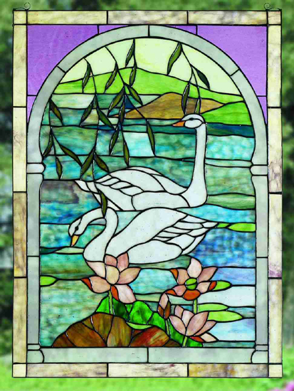 Swans Stained Glass Window For Sale Cottage Amp Bungalow