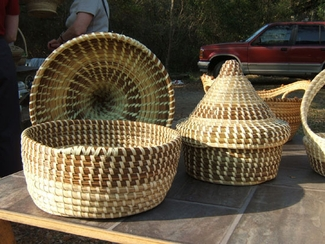 Sweetgrass Cone Top Baskets