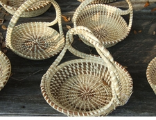 Sweetgrass Round Twisted Handle Baskets