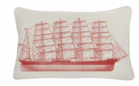 Tall Ship 12 x 20 Indoor/Outdoor Pillow