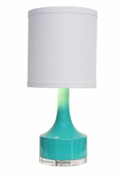 Teal Holmby Table Lamp <Font color=a8bb35> NEW</font>