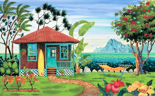 The Beach House Giclee