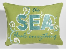 The Sea Heals Everything Outdoor Sunbrella Lumbar Pillow