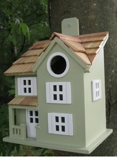 Townhouse Birdhouse in Sage Green
