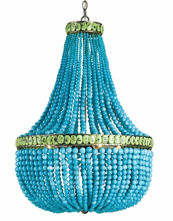 Turquoise Empire Chandelier