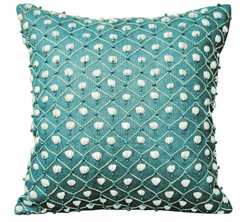 Turquoise Shell Indoor Pillow<font color=a8bb35> NEW</font>