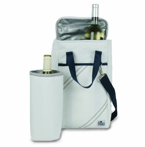 Two Bottle Insulated Wine Tote in Navy