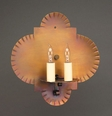Two Lite Wall Sconce with Crimp Sides