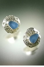 Urchin Shell Button Earrings<font color=a8bb35> NEW</font>