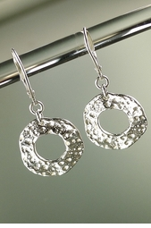 Urchin Shell Silver Earrings<font color=a8bb35> NEW</font>