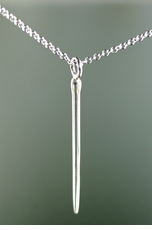 Urchin Spike Silver Pendant <font color=a8bb35> NEW</font>