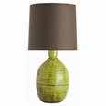 Vince Organic Electric Moss Crackle Terra Cotta Lamp