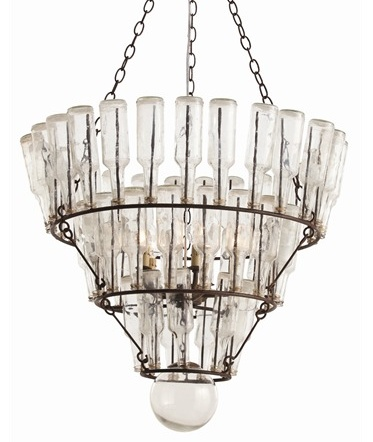 Vintage Wine Bottle Chandelier