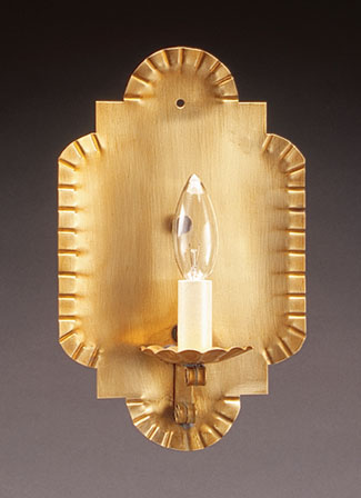 Wall Sconce with Crimp Sides