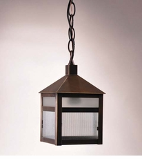 Waverly 1-light Hanging Lantern with Frosted Corduroy Glass