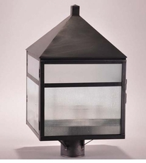Waverly 3-Light Post Lantern with Frosted Corduroy Glass