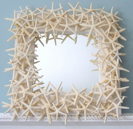 White Finger Starfish Mirror<font color=a8bb35> NEW </font>