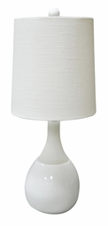 White Malibu Accent Lamp <Font color=a8bb35> NEW</font>