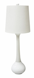White Malibu Table Lamp <Font color=a8bb35> NEW</font>