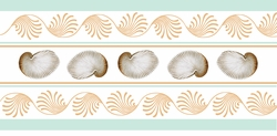 White Nautilus Shell Table Runner <font color=a8bb35> NEW</font>