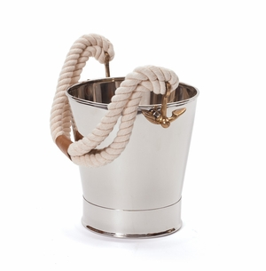 White Rope Ice Bucket <font color=a8bb35> NEW</font>