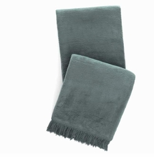 Windsor Juniper Fringed Fleece Throw