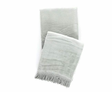Windsor Ocean Fringed Fleece Throw