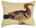 Wood Duck Needlepoint Pillow