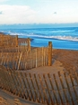 Wooden Fence and Ocean 15 x 20