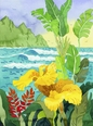 Yellow Cannae and Waves Giclee