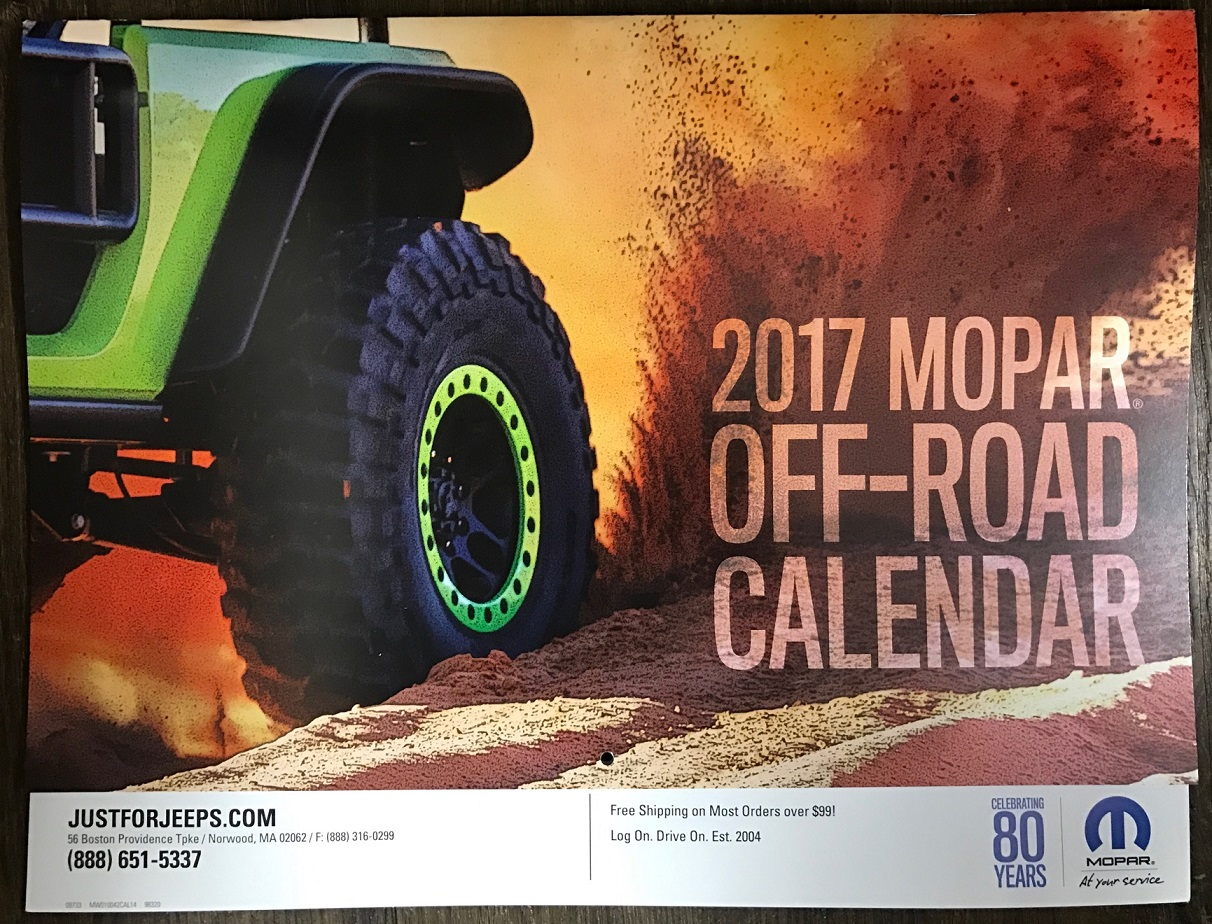 2017 Mopar Off-Road Calendar
