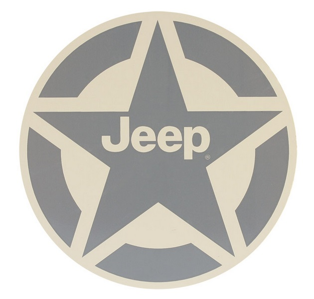 "4"" Jeep Star Logo Circle Decal"