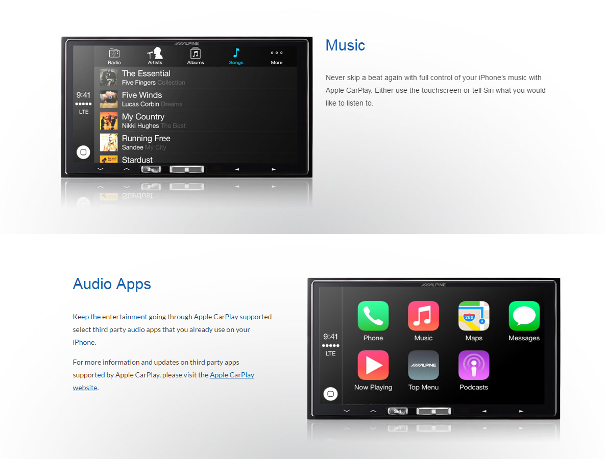 Alpine iLX-007 CarPlay Head Unit