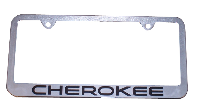 Cherokee Chrome License Plate Frame