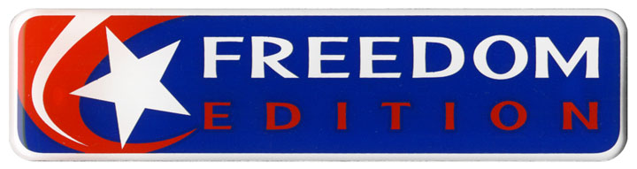 Freedom Edition Badge Decal