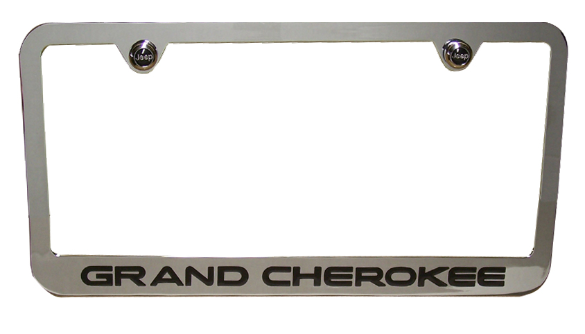 Grand Cherokee Chrome License Plate Frame