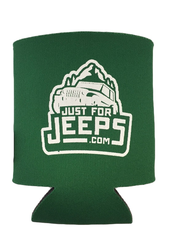 Green Jeep Koozie